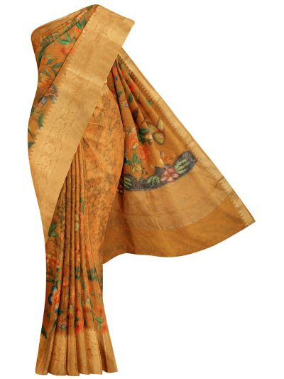 MJC7588238-Fancy Printed Chanderi Cotton Saree