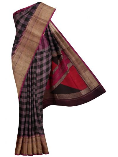 MJC7588519-Kyathi Banarasi Handloom Silk Saree