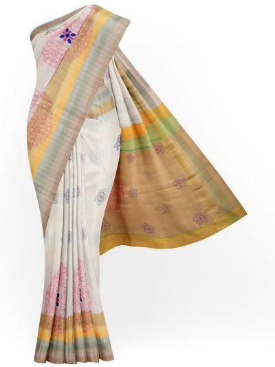 MJC7619276-Soft Silk Embroidery Designs Work Saree
