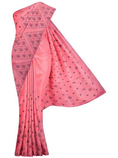 MJD8057201-Fancy Embroidery Raw Silk Saree