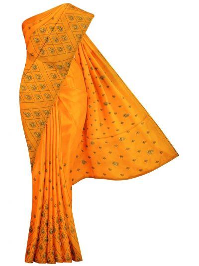 MJD8057211-Fancy Embroidery Raw Silk Saree
