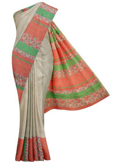 MJD8308961-Fancy Semi Jute Saree with Readymade Blouse