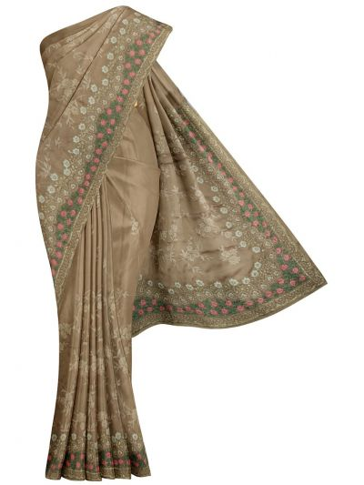 MJD8389350-Partywear Synthetic Georgette Embroidery Work Designs Saree