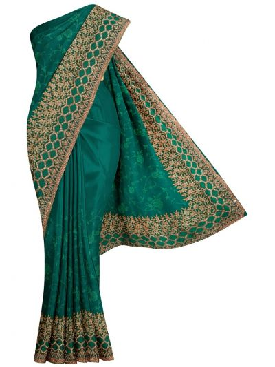 MJD8389369-Partywear Synthetic Georgette Embroidery Work Designs Saree