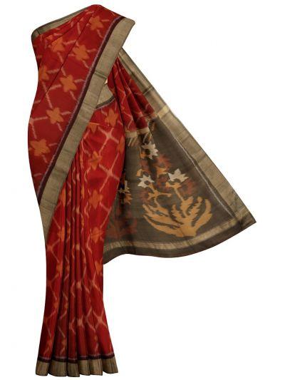 MKB9272462-Chamelli Pochampally Design Silk Cotton Saree