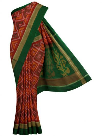 MKB9272463-Chamelli Pochampally Design Silk Cotton Saree