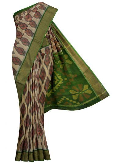 MKB9272467-Chamelli Pochampally Design Silk Cotton Saree