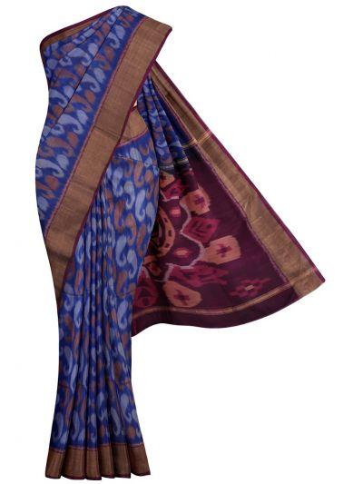 MKB9272468-Chamelli Pochampally Design Silk Cotton Saree