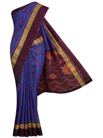 MKB9272475-Chamelli Pochampally Design Silk Cotton Saree