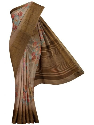 MKC9578667-Kathana Fancy Semi Jute Saree