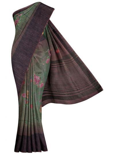 MKC9578675-Kathana Fancy Semi Jute Saree