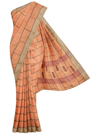 MDE3409095-Kathana Fancy Linen Cotton Saree with Readymade Blouse