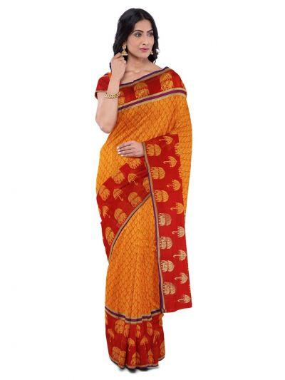 Chamelli Exclusive Kora Silk Cotton Saree - LKB3565298