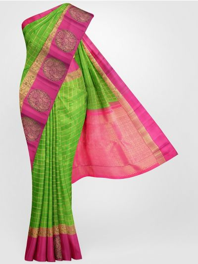 LKC4161047-Vivaha Goddess Pure Kanchipuram Silk Saree