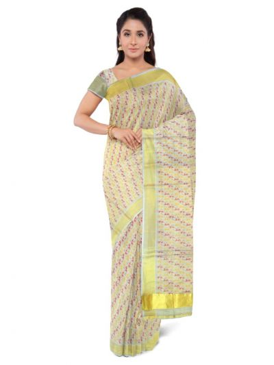 Fancy Kerala Cotton Saree - LKD5132455