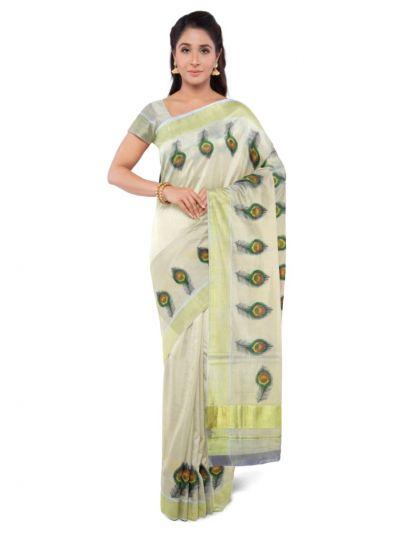 Fancy Kerala Cotton Saree - MAD3566630