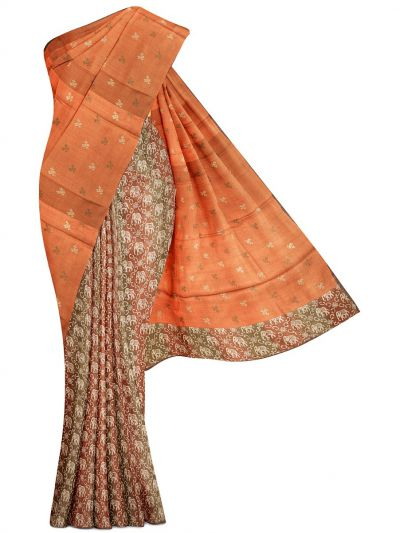 Kathana Exclusive Half and Half Design Tussar Silk Saree - MBB5590808