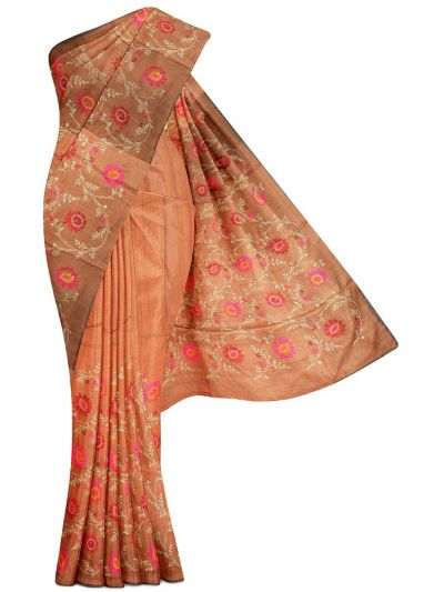 Kathana Exclusive Embroidered Pure Tussar Silk Saree - MBB5590821