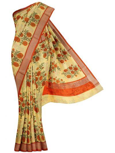 Kathana Exclusive Printed Chanderi Cotton Saree - MDC2242253