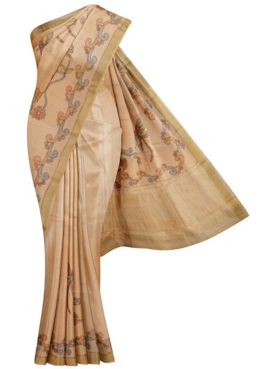 MDD3107641 - Printed Tussar Silk Saree