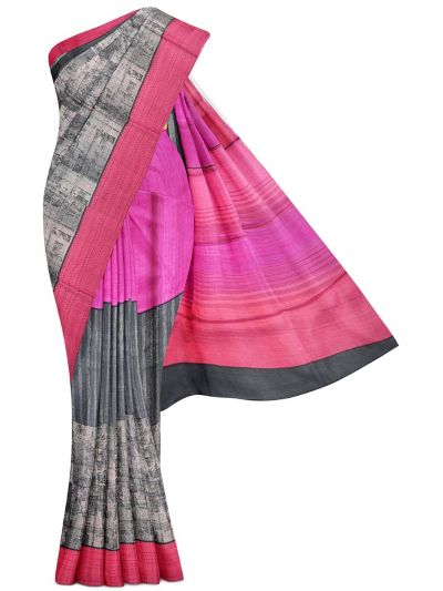 MDE3713925-Tussar Printed Design Saree