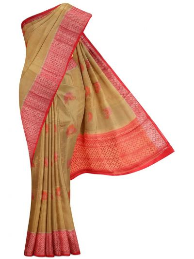 Kyathi Exclusive Dupion Tussar Silk Saree - MEA4597523