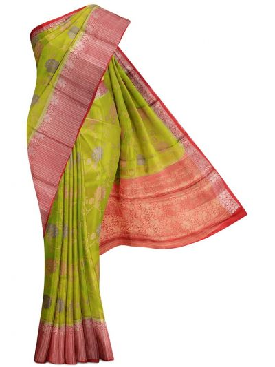 Kyathi Exclusive Dupion Tussar Silk Saree - MEA4597524