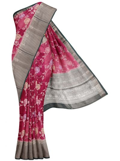 Kyathi Exclusive Dupion Tussar Silk Saree - MEA4597526