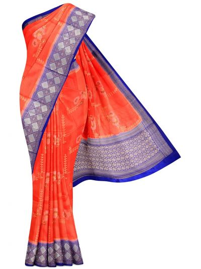 Kyathi Exclusive Dupion Tussar Silk Saree - MEA4597528