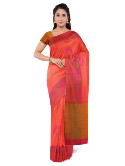 Sahithyam Dupion Tussar Silk Saree - MEA4597547