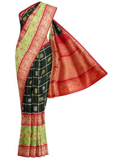 Pochampalli Handloom Pure Ikat Silk Saree - MEB6305426