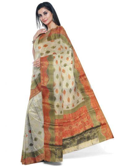Kathana Fancy Raw Silk Zari Weaving  Saree - MFB2406985
