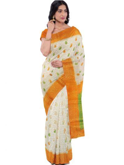 Kathana Fancy Raw Silk Zari Weaving Saree  - MFB2406983