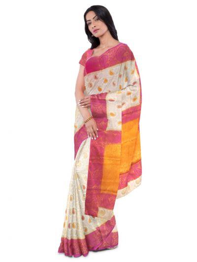 Kathana Fancy Raw Silk Zari Weaving Saree - MFB2406982