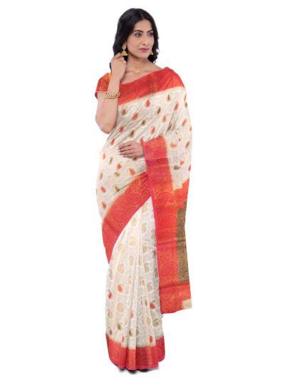 Kathana Fancy Raw Silk Zari Weaving  Saree - MFB2406943