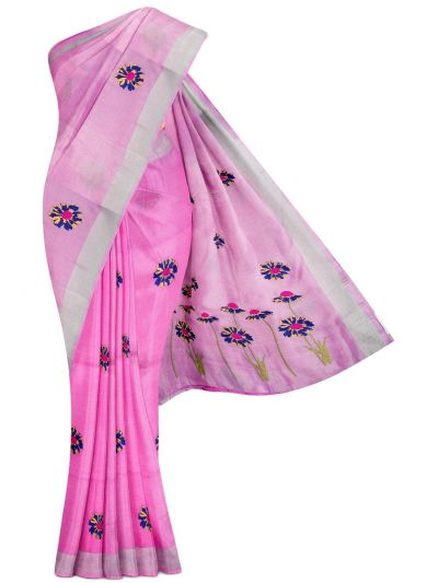 MEC7916839-Linen Cotton Saree