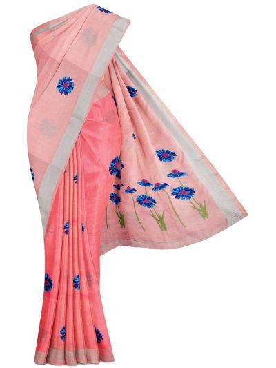 MEC7916843-Linen Cotton Saree