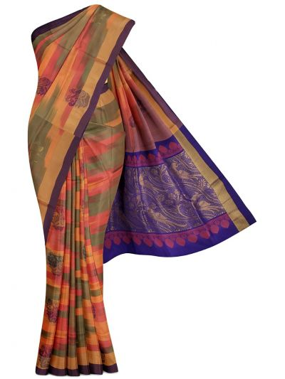 MED8901575-Soft Silk Saree