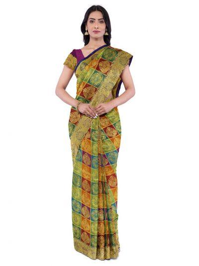 Vivaha Wedding Silk Saree With Stone Work Design - MFA9554267