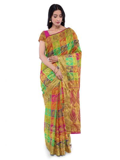 Vivaha Wedding Silk Saree With Stone Work Design - MFA9554268