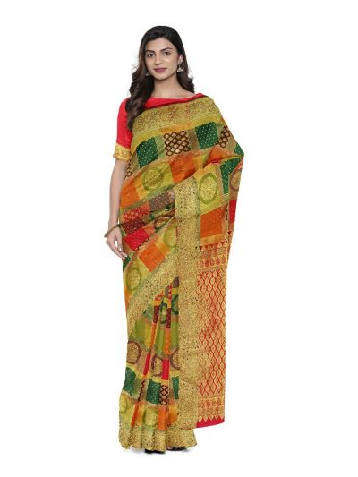 Vivaha Wedding Silk Saree With Stone Work Design - MFA9554271
