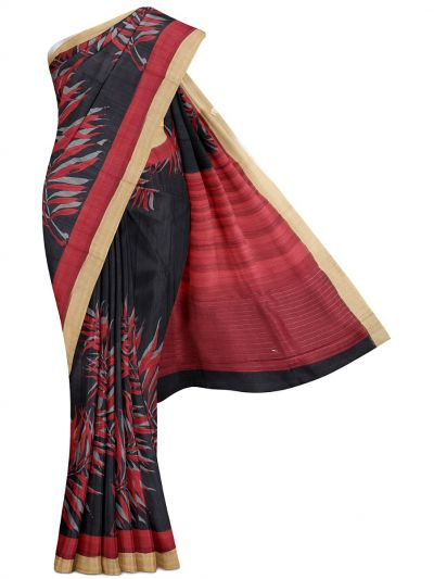 MFA9561357-Printed Tussar Silk Saree