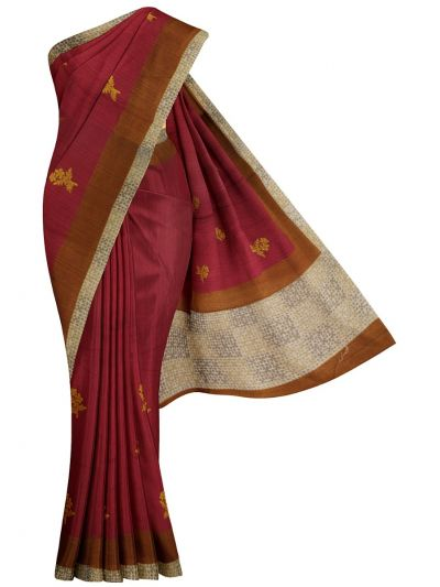 MFA9747672 - Semi Jute Embroidery Saree