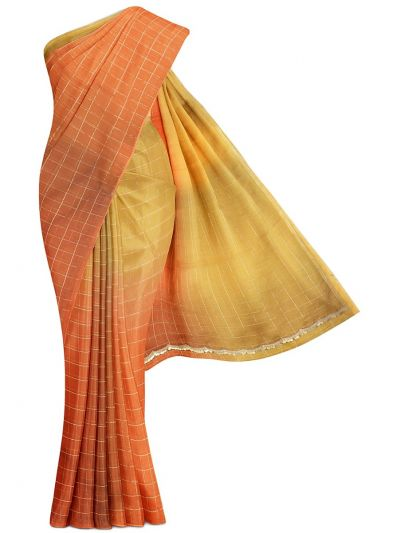 MFB3078269 - Fancy Organza Allover Checked Design Saree