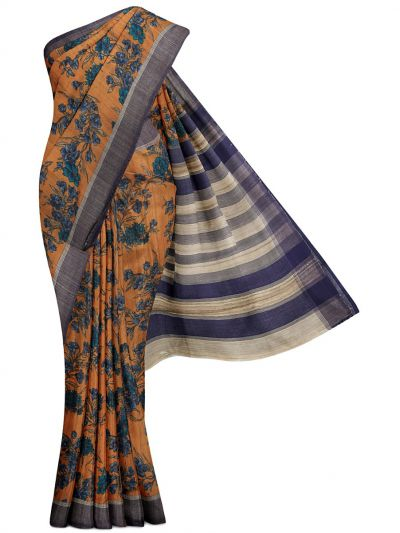 MFB3431032 - Fancy Tussar Printed Silk Saree