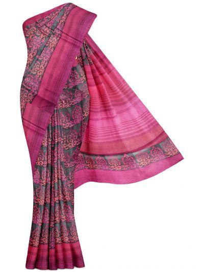 Kyathi Exclusive  Dupion Pure Tussar Silk Saree - MFB3431034