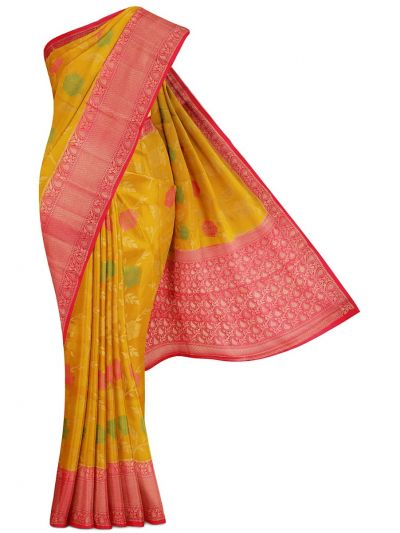 Kyathi Exclusive Dupion Tussar Silk Saree - MFB4474495