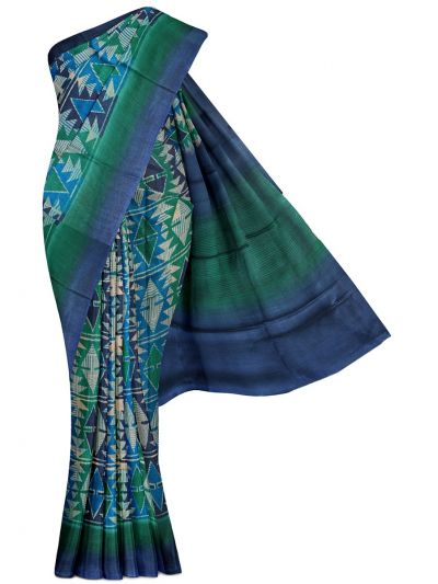 MFB5399823-Fancy Munga Tussar Printed Design Silk Saree