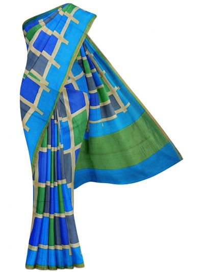 MFB5721263 - Fancy Munga Tussar Multi Color Printed Design Saree