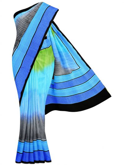 MFB5721264-Fancy Printed Deign Tussar Silk Saree